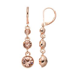 Napier Simulated Crystal Graduated Linear Drop Earrings