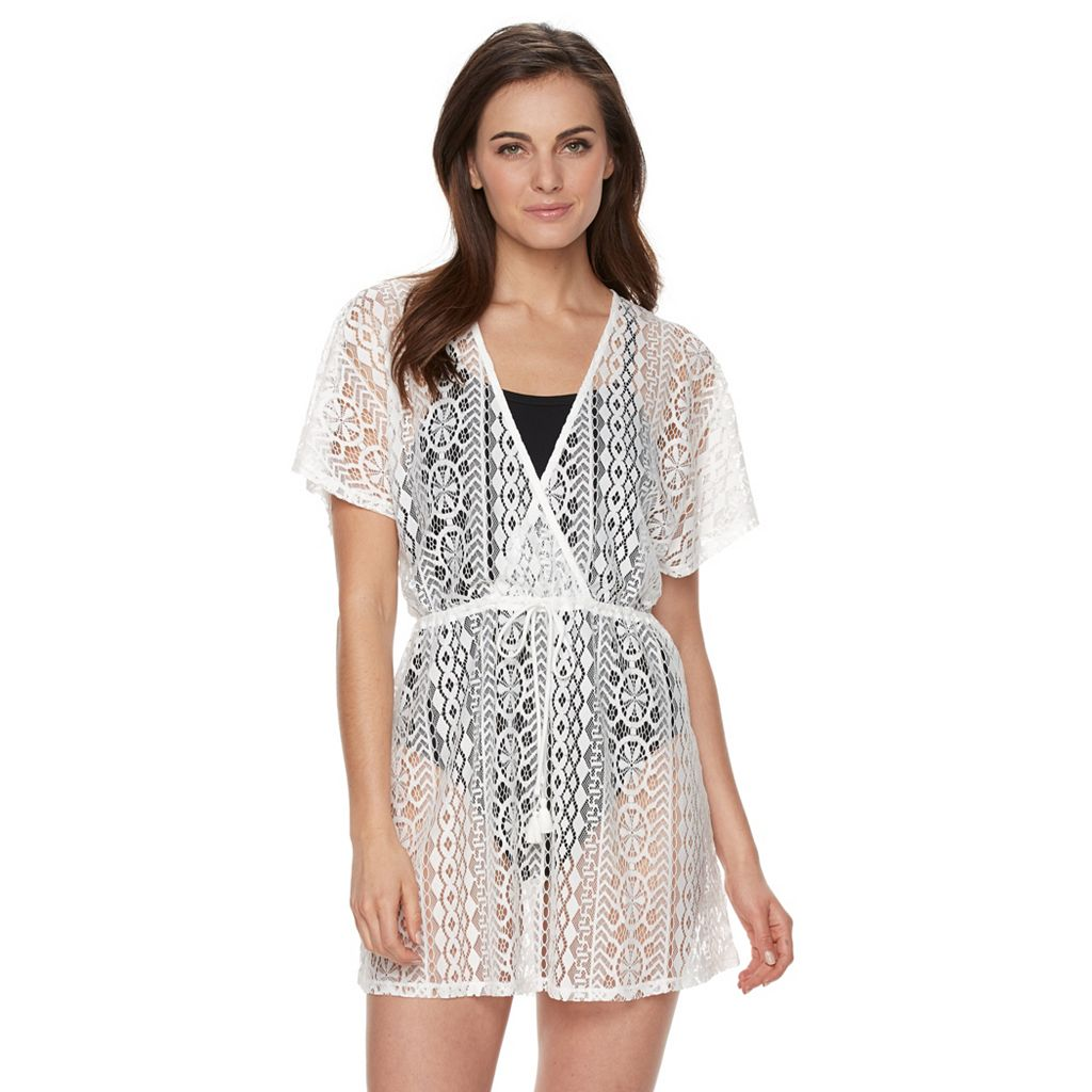 Women's Apt. 9 Texture Surplice Cover-Up