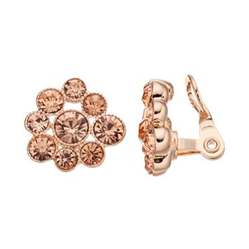 Napier Simulated Crystal Cluster Clip-On Earrings