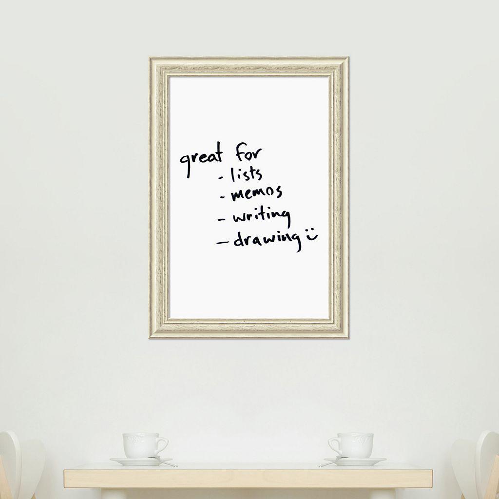 Amanti Art White Washed Framed Dry Erase Board Wall Decor