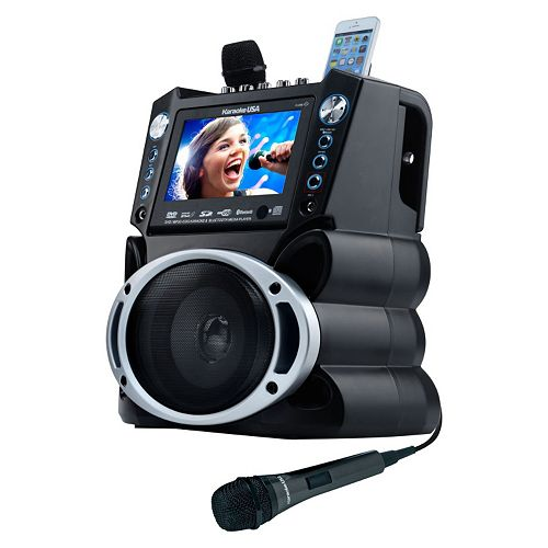 "Karaoke USA Bluetooth Karaoke System with DVD, CD MP3-G & 7"" Color Screen"