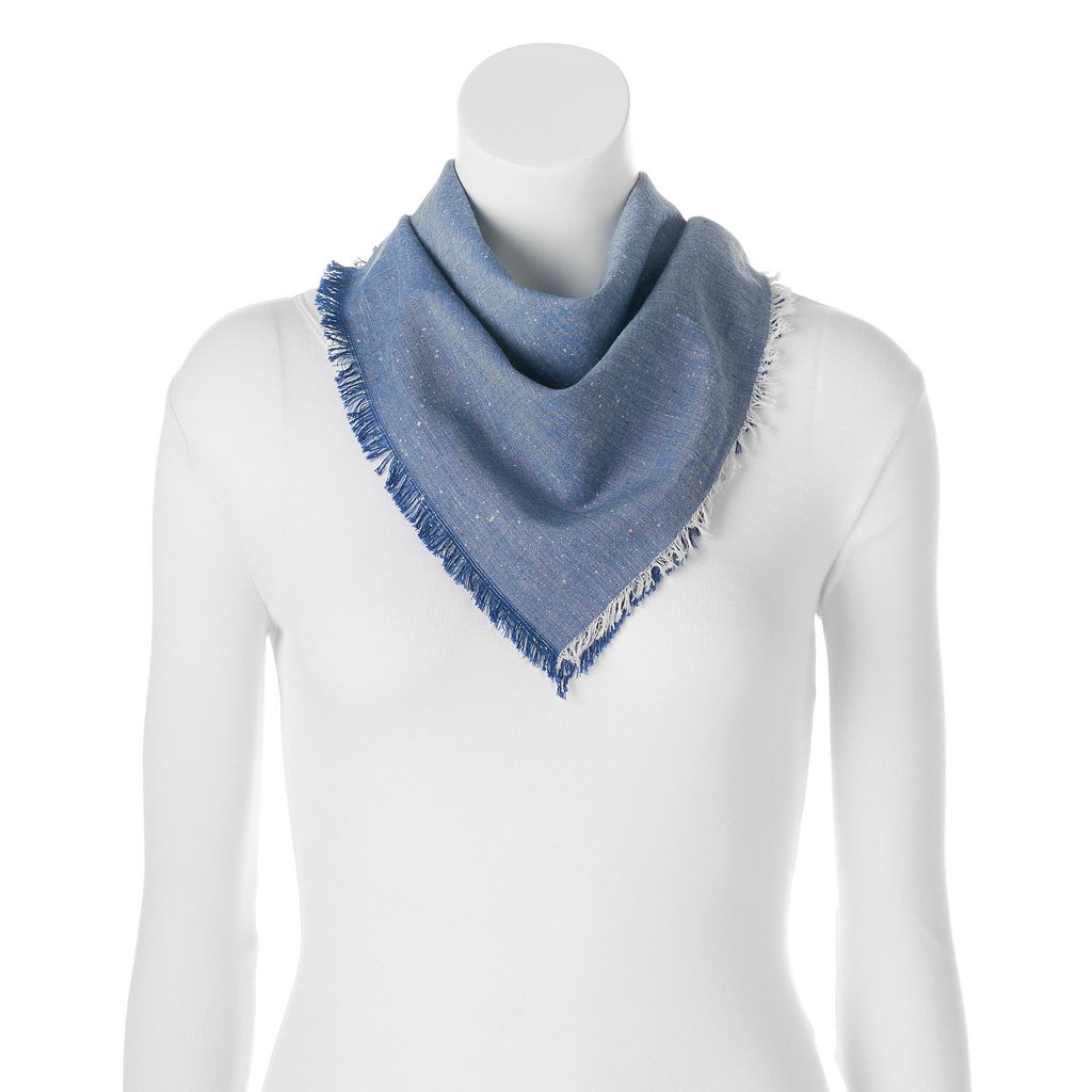 SONOMA Goods for Life™ Speckled & Frayed Bandana Square Scarf