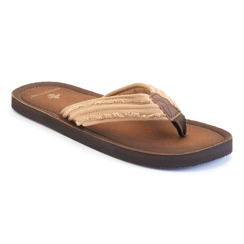Men's Vintage Stone Flip-Flops