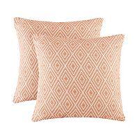 Madison Park 2-pack Ezra Diamond Jacquard Pillow
