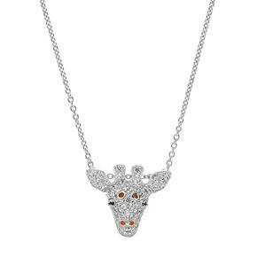 Sophie Miller Sterling Silver Cubic Zirconia Giraffe Pendant