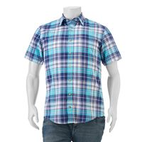 Big & Tall IZOD Classic-Fit Plaid Chambray Button-Down Shirt