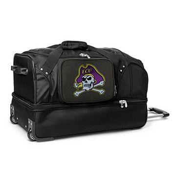 East Carolina Pirates 27-Inch Wheeled Drop-Bottom Duffle Bag