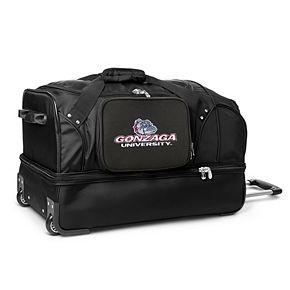 Gonzaga Bulldogs 27-Inch Wheeled Drop-Bottom Duffle Bag