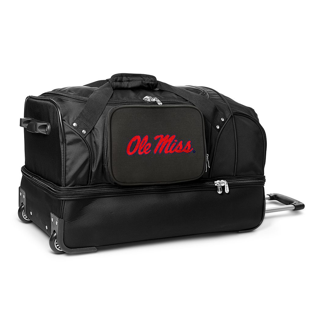 Ole Miss Rebels 27-Inch Wheeled Drop-Bottom Duffle Bag