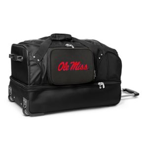 Ole Miss Rebels 27-Inch Wheeled Drop-Bottom Duffle Bag