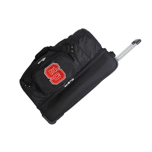 North Carolina State Wolfpack 27-Inch Wheeled Drop-Bottom Duffle Bag
