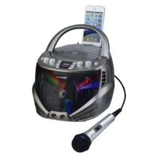 Karaoke USA Bluetooth Portable CD-G Karaoke Player with Flashing LED Lights