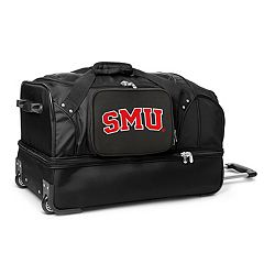 SMU Mustangs 27-Inch Wheeled Drop-Bottom Duffle Bag