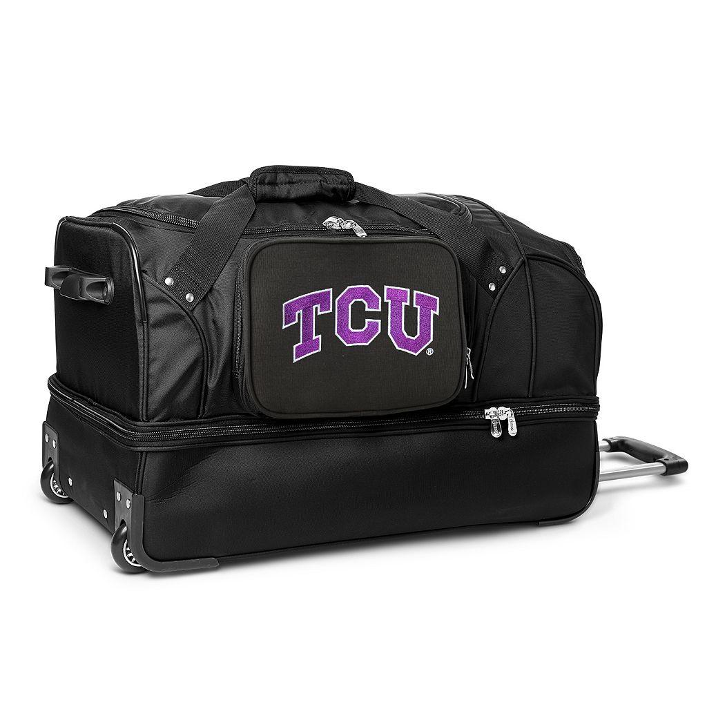 TCU Horned Frogs 27-Inch Wheeled Drop-Bottom Duffle Bag