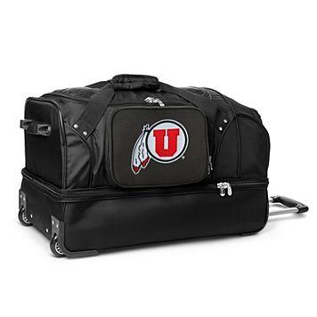Utah Utes 27-Inch Wheeled Drop-Bottom Duffle Bag