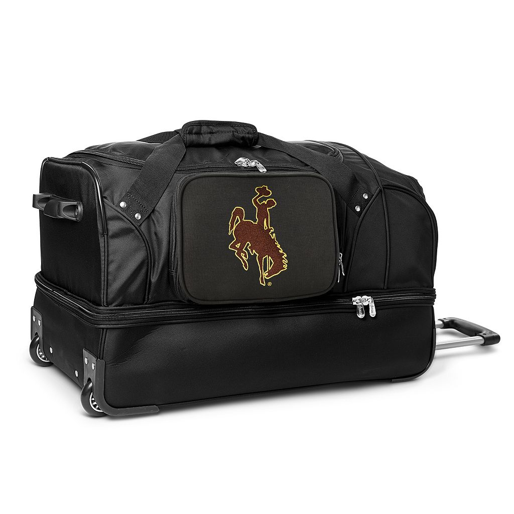Wyoming Cowboys 27-Inch Wheeled Drop-Bottom Duffle Bag