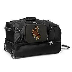 Wyoming Cowboys 27-Inch Wheeled Drop-Bottom Duffle Bag