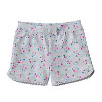 Baby Girl Jumping Beans® Print Pom-Trim Shorts