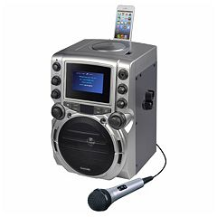 Karaoke USA CD-G Bluetooth Karaoke System with 4.3' Color Display