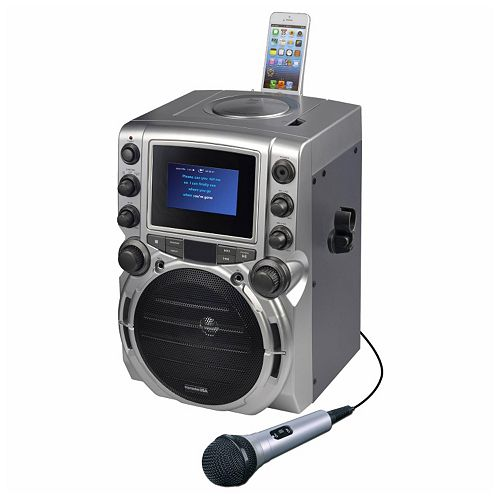 "Karaoke USA CD-G Bluetooth Karaoke System with 4.3"" Color Display"