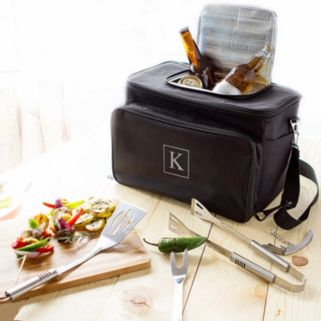 Cathy's Concepts Monogram Tailgate Cooler with Grill Tool Set