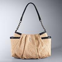 Simply Vera Vera Wang Alicia Straw Hobo