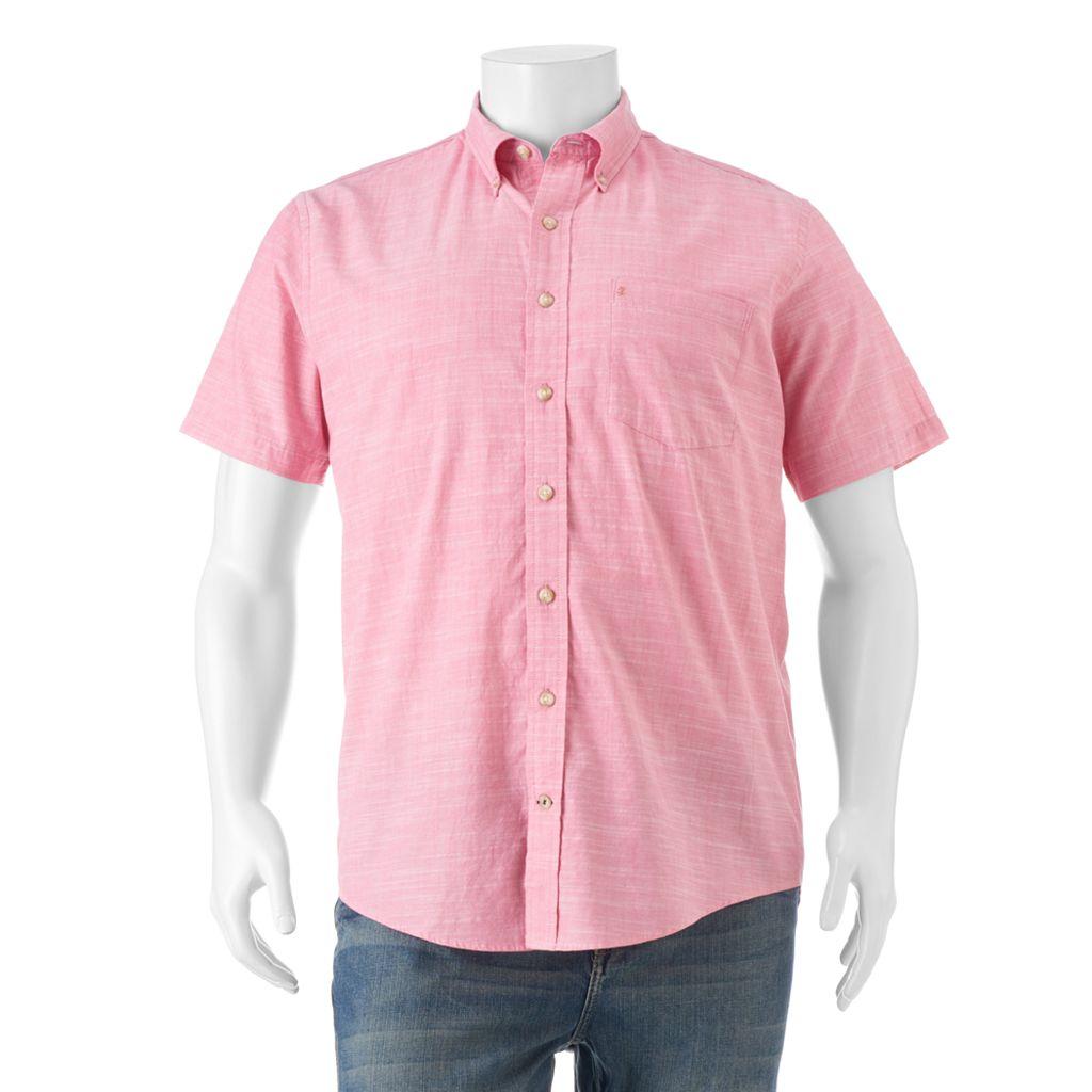 Big & Tall IZOD Dockside Classic-Fit Chambray Button-Down Shirt