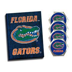 Florida Gators Wall Art & Coaster Set
