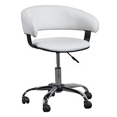 Gas Lift Faux-Leather Swivel Desk Chair