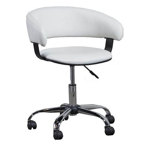 Gas Lift Faux-Leather Swivel Desk Chair