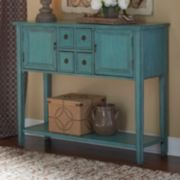 Duplin Rustic Blue Console Table