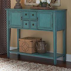 Duplin Rustic Blue Console Table