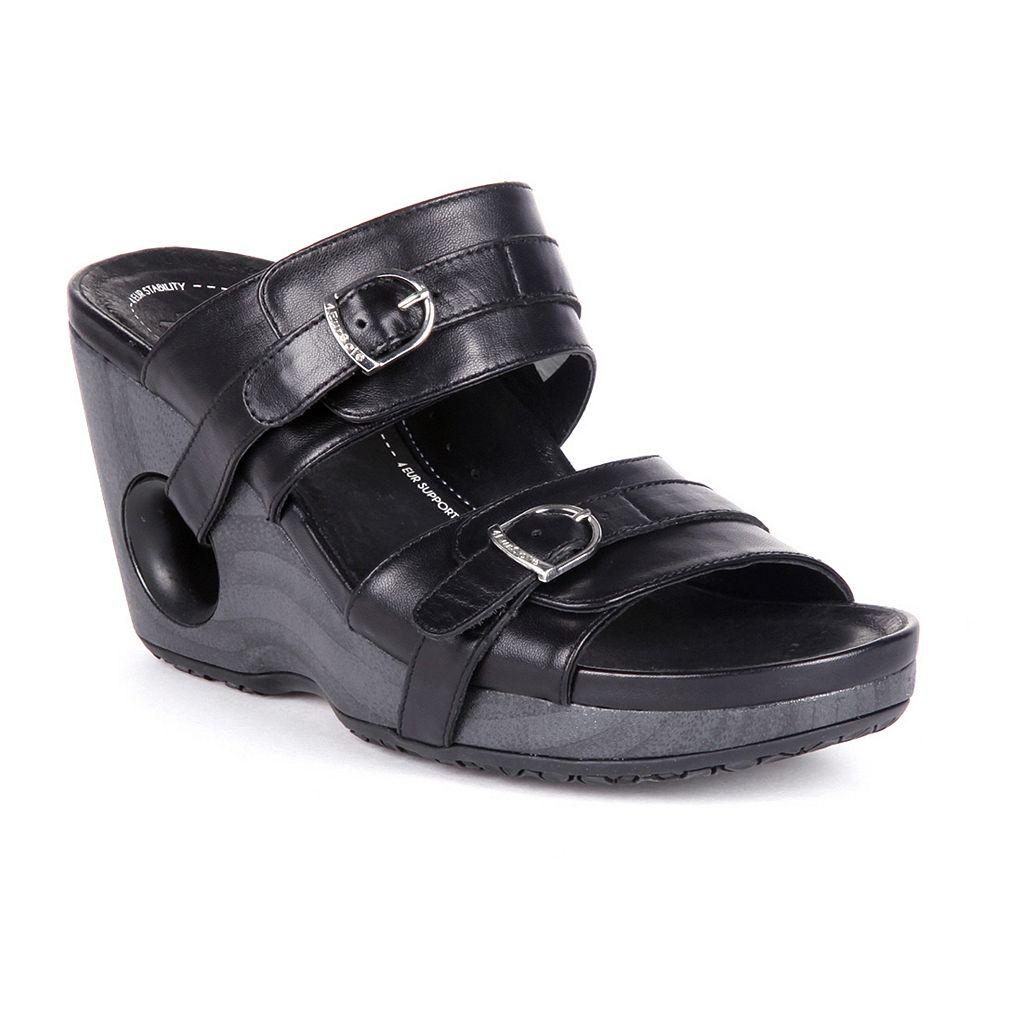 Rocky 4EurSole Splendor Leather Women's Wedge Sandals