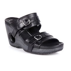 Rocky 4EurSole Splendor Leather Women's Wedge Sandals