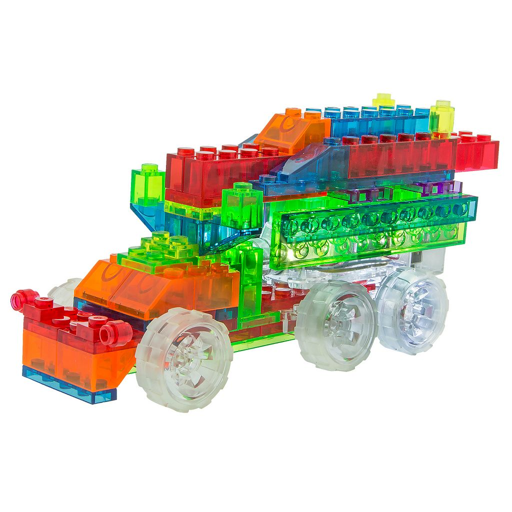 Laser Pegs 6-in-1 Fire Truck Lighted Construction Toy