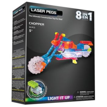 Laser Pegs 8-in-1 Chopper Lighted Construction Toy