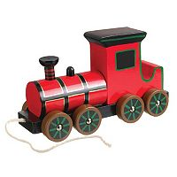 Orange Tree Toys Wooden Pull-Along Steam Train