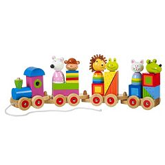 Orange Tree Toys Wooden Animal Puzzle Train  by