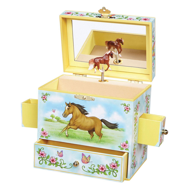 Wild Free Horse Musical Jewelry Box