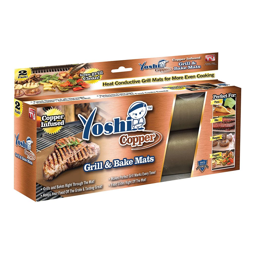 Yoshi Copper Grill & Bake Mats As Seen on TV