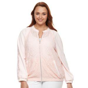 Plus Size Apt. 9® Lace Bomber Jacket