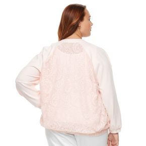 Plus Size Apt. 9® Lace Bomber Jacket