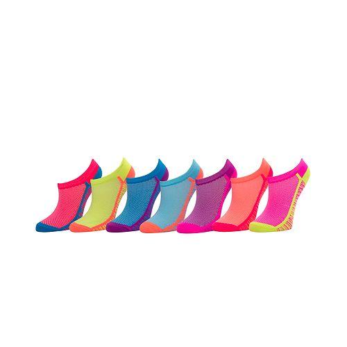 Girls 4-16 SO® 7-pk. Microfiber No-Show Socks