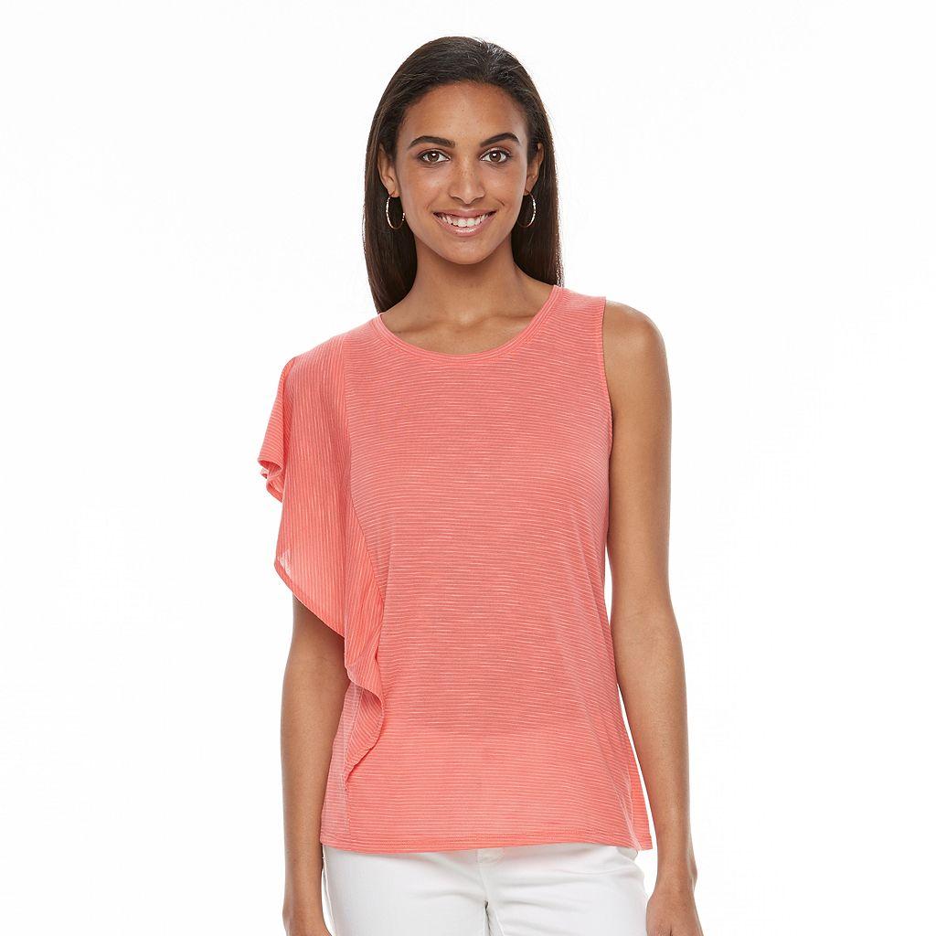 Women's Apt. 9® Striped One-Shoulder Top