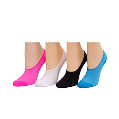 Girls 4-16 SO® 4 pkMicrofiber Solid Liner Socks