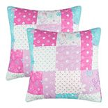 Lullabye Bedding Butterfly 2-pack Quilted Euro Sham Set