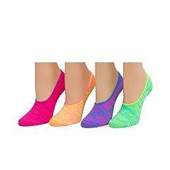 Girls 4-16 SO® 4 pkMicrofiber Space-Dyed Liner Socks