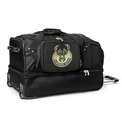 Milwaukee Bucks 27-Inch Wheeled Drop-Bottom Duffle Bag