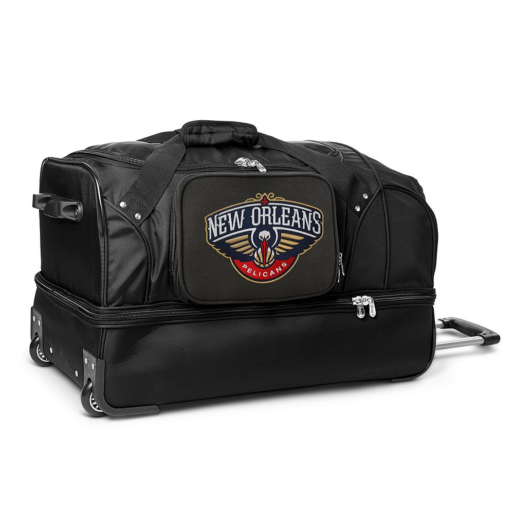 New Orleans Pelicans 27-Inch Wheeled Drop-Bottom Duffle Bag