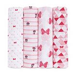 Disney's Minnie Mouse 4-pk. Swaddling Wraps from aden by aden + anais